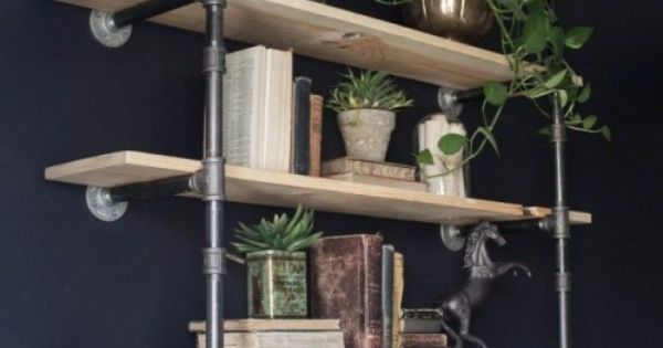 Ideas about Pinterest: Here's a great tutorial for installing Industrial Style Open Pipe Shelving from Joanna at Magnolia Farms / Fixer Upper.