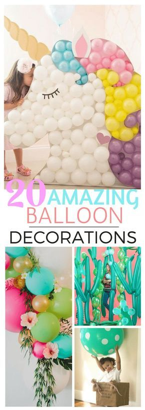20 Best Balloon Party Ideas | Best of Pinterest Find balloons made into arches, wreaths, backdrops, animals and decorations.