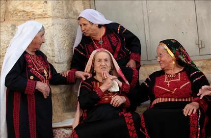 The art of embroidery out of the assets of the Palestinian heritage.