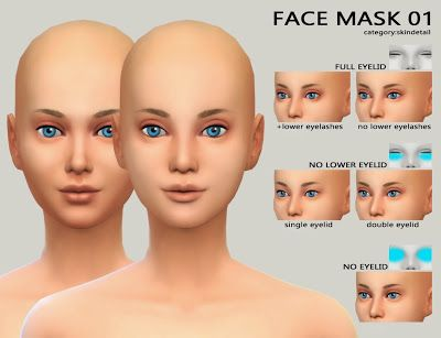 My Sims 4 Blog Skins Female coiffure et makeup (cc