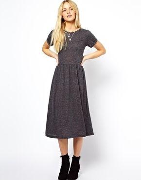 Midi Smock Dress in Nepi by ASOS