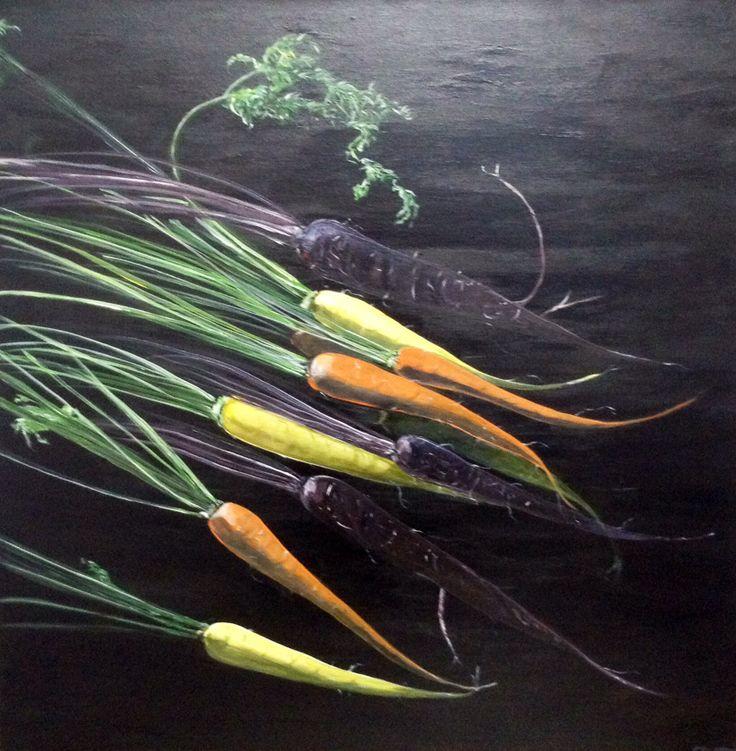 Mixed Carrots- acrylic 30x30