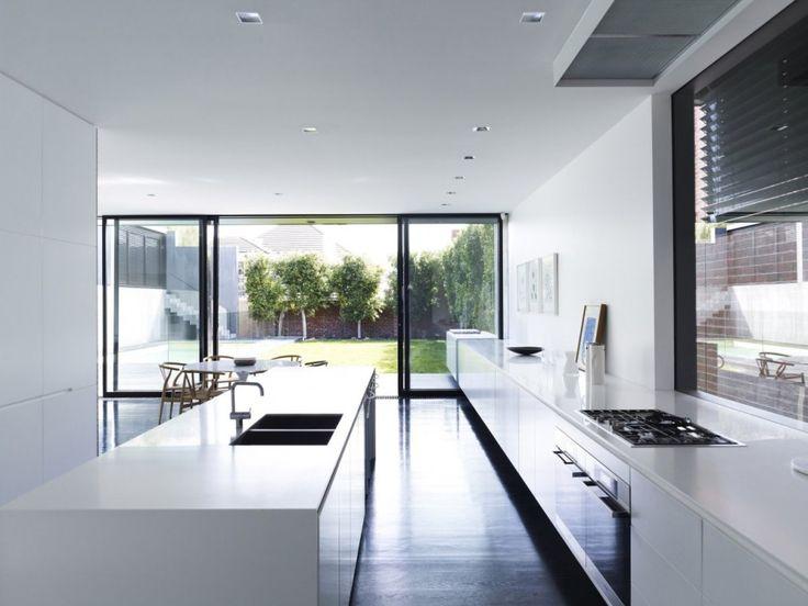 Kitchen interiors modern black and white