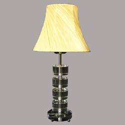 Crystal Modern Chrome/Yellow Table Lamp o.co