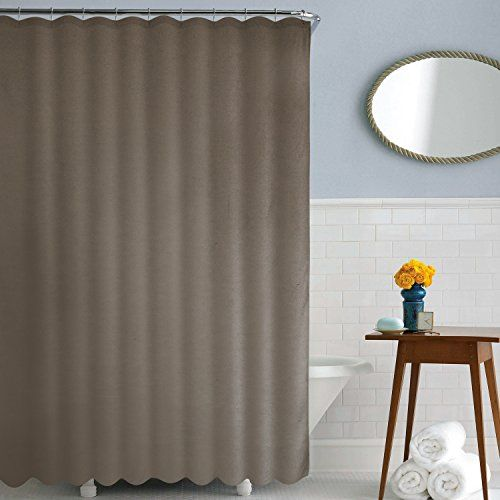 Deconovo Solid Bath Curtains Water Resistant Fabric Shower Curtain for Bath Room 72W x 72L Inch Khaki:   Deconovo Solid Water Resistant Shower Curtain Bath Curtain/b/p Instantly update your bath room with the Deconovo Solid Color shower curtain. Offering a modern and contemporary look. Fresh and sleek, these shower curtain will be perfectly integrated with the surrounding decor in your bath room when you hang them. Their variety of colors make them versatile enough for every room in yo...