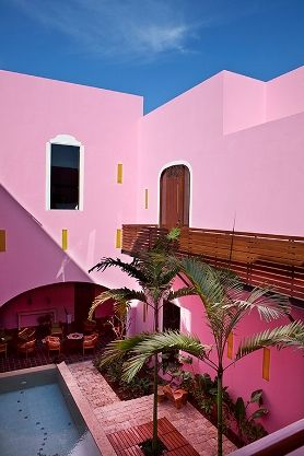 Merida, Mexico: Color Rosa, Color Inspiration, Color Hotels, Travel Inspiration, Boutiques Hotels, Pink House, Pink Mexico, Mexico Pink, Colour Hotels