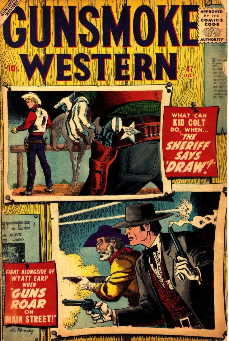 Gunsmoke Western #47, July 1958, Pencils: Joe Maneely