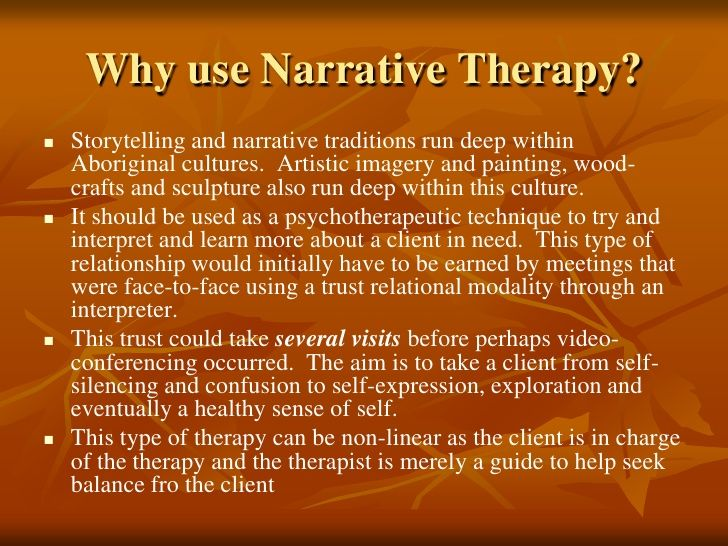 Narrative therapy essay papers