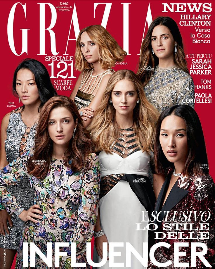 Fay loves fashion influencers! Gala Gonzalez wears the shimmering and elegant Fay dress on the cover of Grazia.