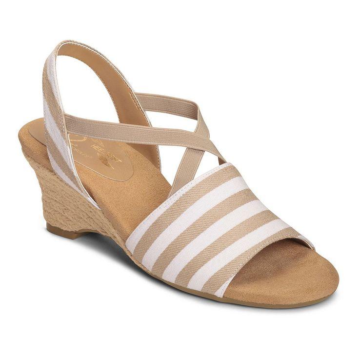 A2 by Aerosoles Boyzenberry Women's Nautical Wedge Sandals, Size: medium (7), Brt Blue