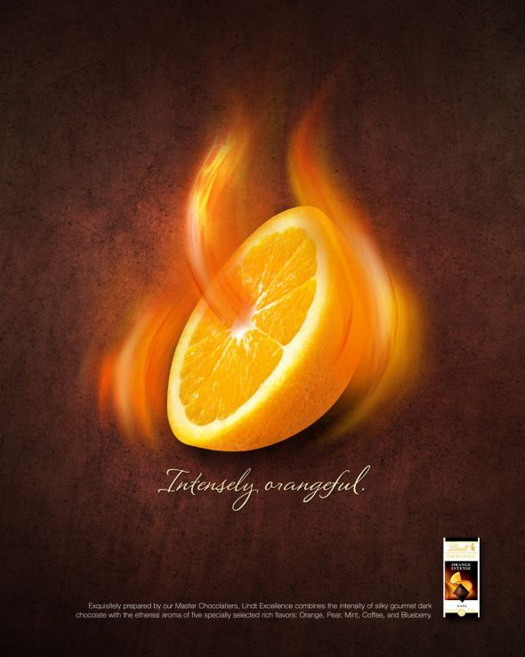 Lindt Excellence Intense: Intensely orangeful   Ads of the World™