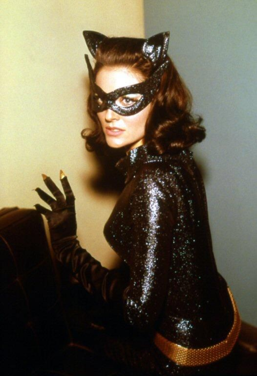 *m. The beautiful Lee Merriweather replaced Julie Newmar for the Batman movie (1966) -- the costume fit well but Merriweather didn't have the weirdness of Newmar, or the dangerous malice of Kitt.