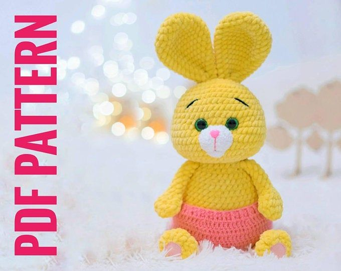 Crochet Pattern Bunny english, Crochet Amigurumi Pattern PDF file ... | 540x680
