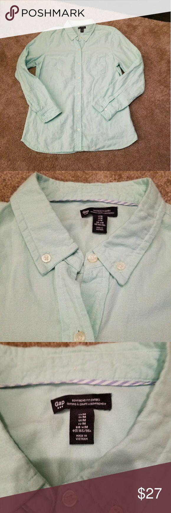 GAP Button Down Mint Shirt Lightweight button down Shirt from GAP.  Mint green color. Worn once, perfect condition! GAP Tops Button Down Shirts