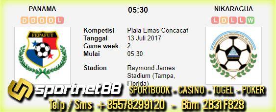 Prediksi Skor Bola Panama vs Nikaragua 13 Jul 2017 Piala Emas Concacaf di Raymond James Stadium (Tampa, Florida) pada hari Kamis jam 05:30 live di Fox Sports 1