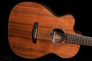Handmade left handed guitar, Indian Rosewood, Sinker Redwood