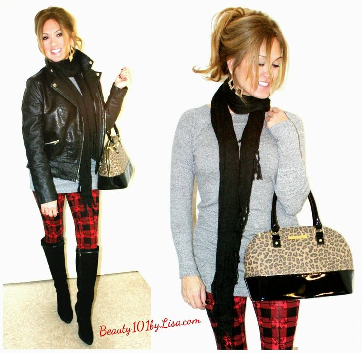 Casual Holiday Outfit #holidayoutfit #plaidpants - http://www.beauty101bylisa.com/2014/12/casual-holiday-outfit.html