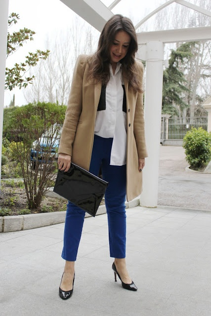 DIY costura. Como hacer pantalones azul klein