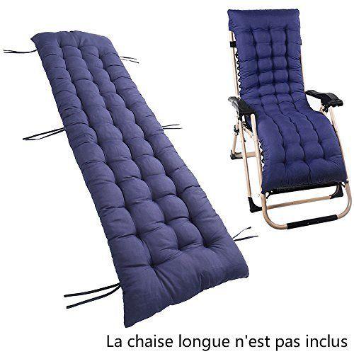 Coussin Bain de Soleil pour Lounge Fauteuil Chaise Transat de Jardin  Fauteuil relax épais Outdoor Assise 160 52 7 CM ae665b58accc