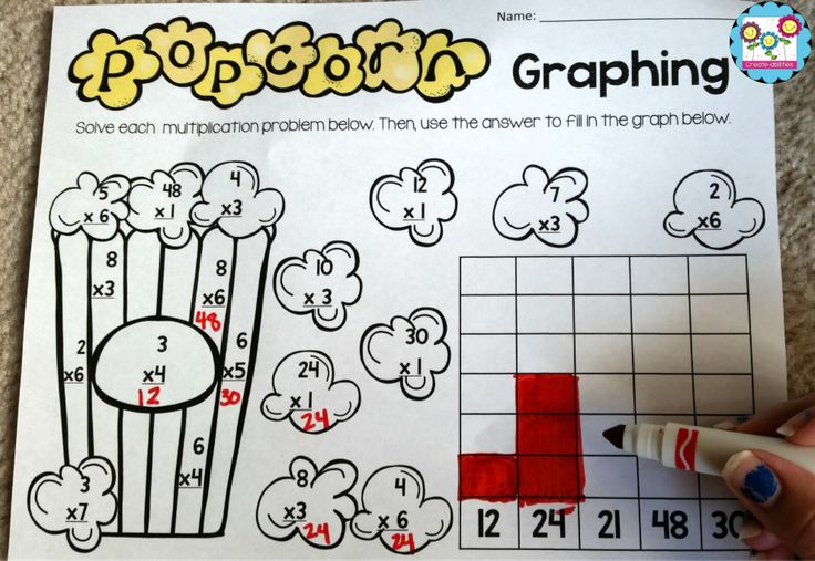 FREE! Multiplication and graphing activity!  #commoncore #multiplication #graphing