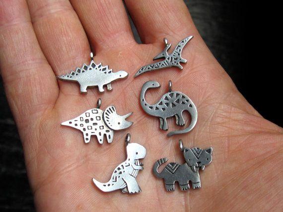 Tyrannosaurus Rex Dinosaur Necklace with by marmarsuperstar