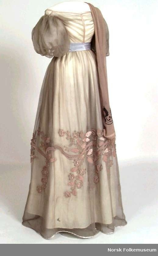 Someone, in some book, somewhere, should be wearing this dress.  I just can't think of who right now.  XD  Evening dress, 1828, Norsk Folkemuseum.