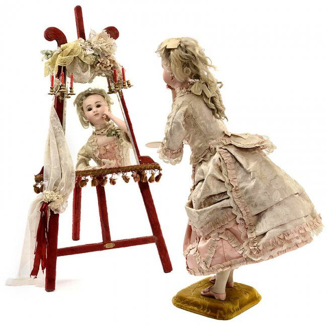 Musical Coquette Automaton by Gustave Vichy, c. 1885 : Lot 554