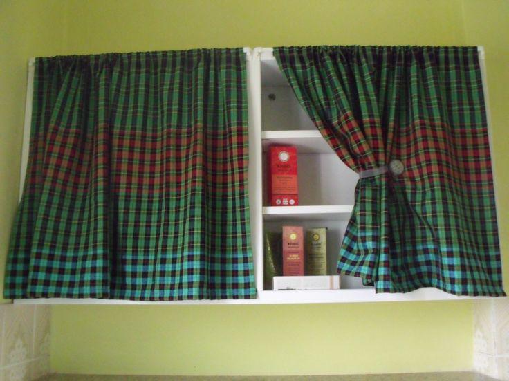 how to make curtains for shelf and cabinet diy - tutorial come fare delle tendine per arredare i mobili - fai da te