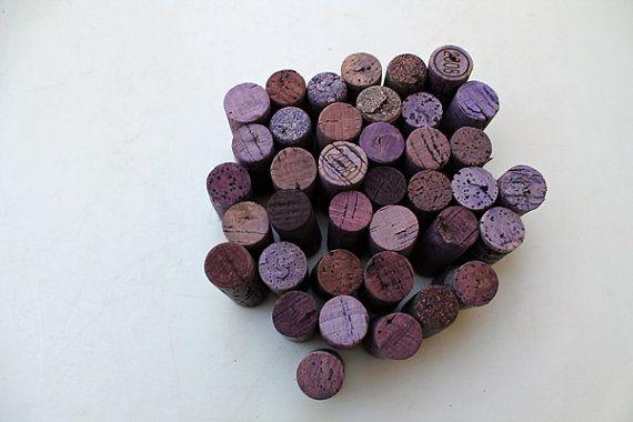 DIY Craft Corks  wine corks  craft supply  Purple