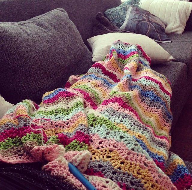 Ajour Ripple deken #haken #crochet