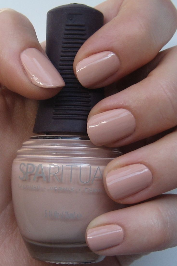 Finally a nail-polish that doesn't irritate my fingers! SpaRitual Sacred Sands. Perfect nude!