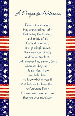 A Prayer for Veterans Greeting Card - Veterans Day Printable Card | American Greetings