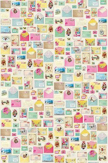 PiP You've Got Mail Linen wallpaper | Wallpower 2 | Wallpaper | Pip Studio