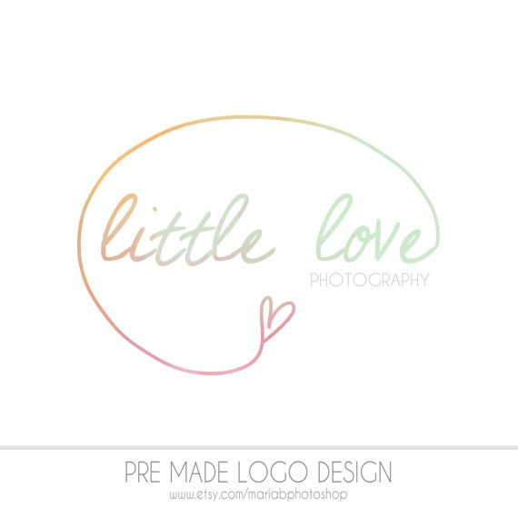 Pre made photography logo watercolor design photography watermark painted ooak design
