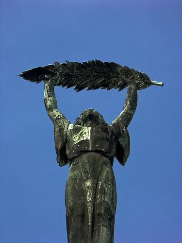 Liberation Monument, Gellert Hill, Budapest. PICT2552 LR Edit by StevenC_in_NYC, via Flickr
