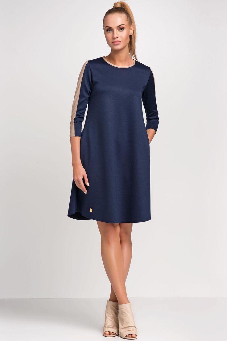 Sukienka Model M237 Navy #modadamska #sukienkikoktajlowe #sukienkiletnie #sukienka #suknia #sukienkiwieczorowe #sukienkinawesele #allettante.pl