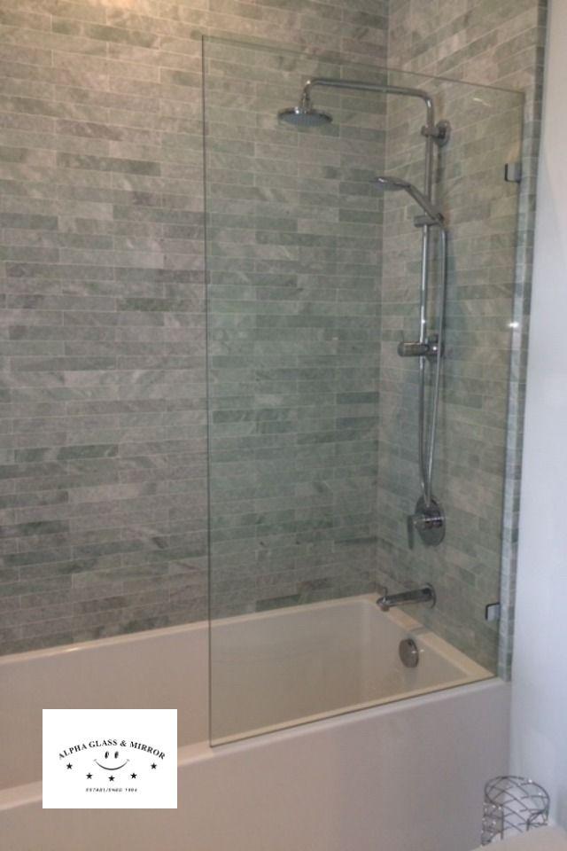 Frameless Tub Panel Glass Tub Enclosure Frameless Shower Enclosures Tub Glass Panel
