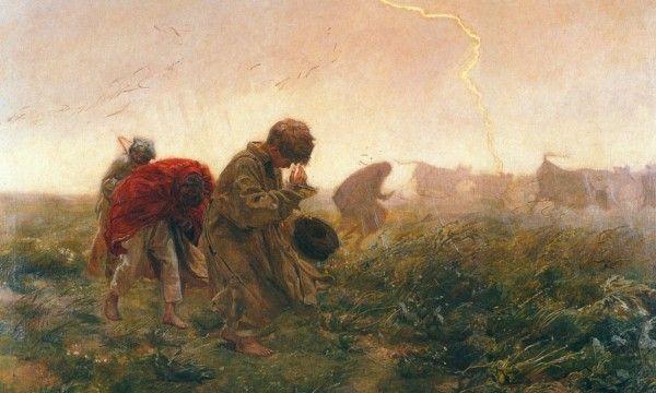Józef Chełmoński - Burza, 1896