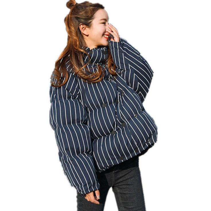#aliexpress, #fashion, #outfit, #apparel, #shoes #aliexpress, #Oversized, #Short, #Striped, #Parka, #Femme, #Casual, #Style, #Thickening, #Jacket, #Women, #Chaquetas, #Mujer, #Cotton, #Padded, #TT3452