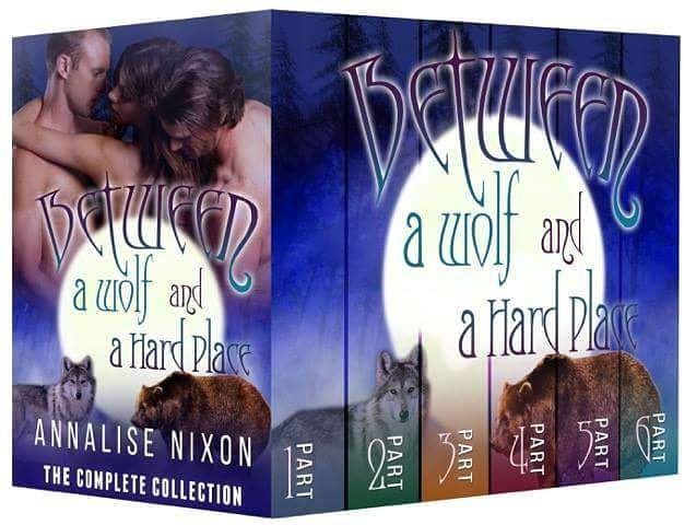 Between a Wolf and a Hard Place- The Complete Collection: BBW Shifter Menage Parts 1-6 (NORCAL Shifters) By Author Annalise Nixon  #Romance #Menage #Shifters  One woman. Two shifters. One shot at love.  Iris Zahns life is thrown into chaos when she and her sister along with their best friend are kidnapped from their home in Oregon. When their captors separate the three women they vow to reunite no matter the cost.  Of course things go from bad to bonkers when she wakes up between two of the…