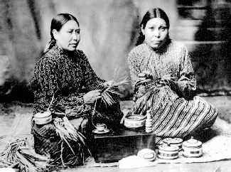 Nuu-chah-nulth (Nootka) Women Weaving Baskets - PEOPLE OF THE NORTHWEST COAST - FIRST NATIONS IN B.C. - BC ARCHIVES TIME MACHINE