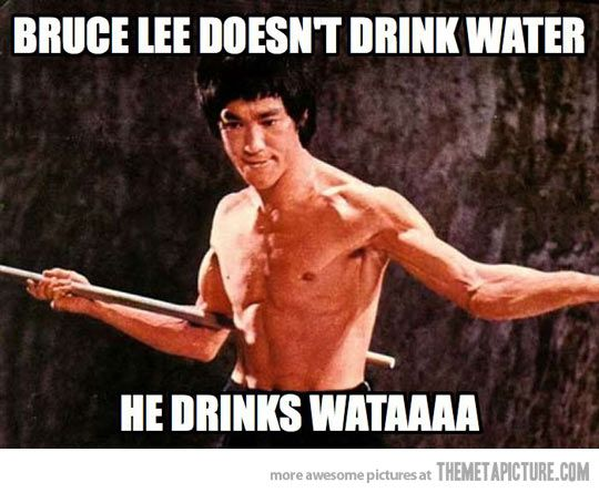Funny Meme About Drinking Water : Best bruce lee memes images on pinterest martial arts