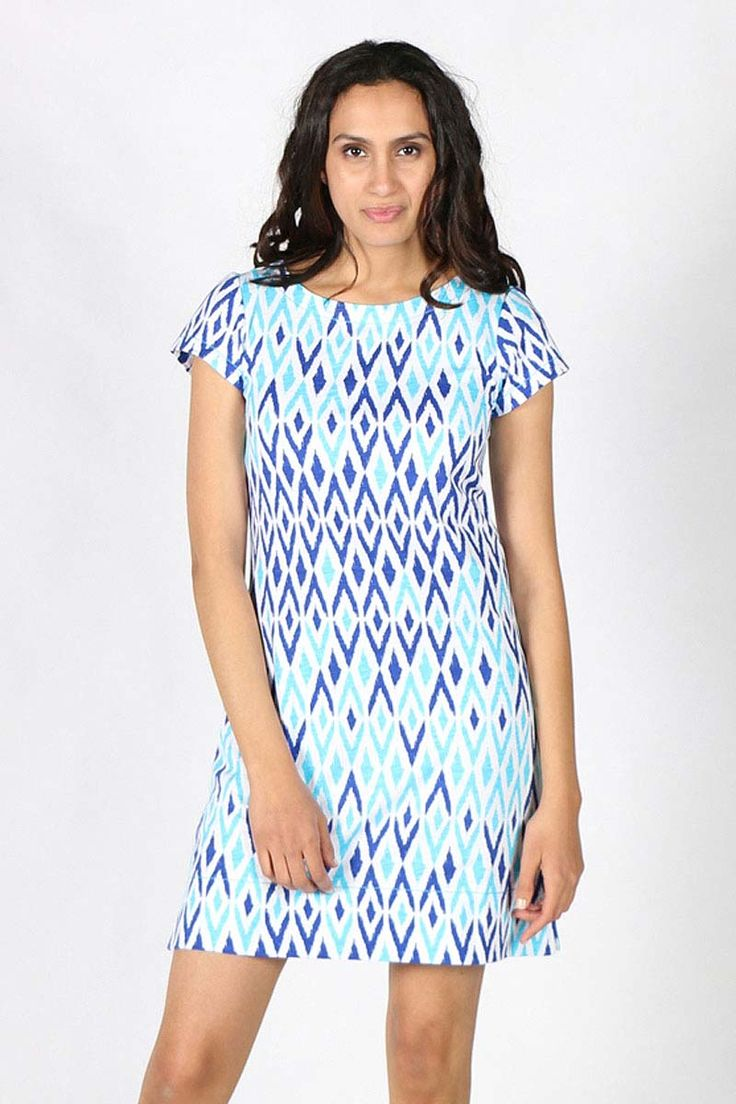Hatley - Ikat Print Dress By Hatley In Turquoise