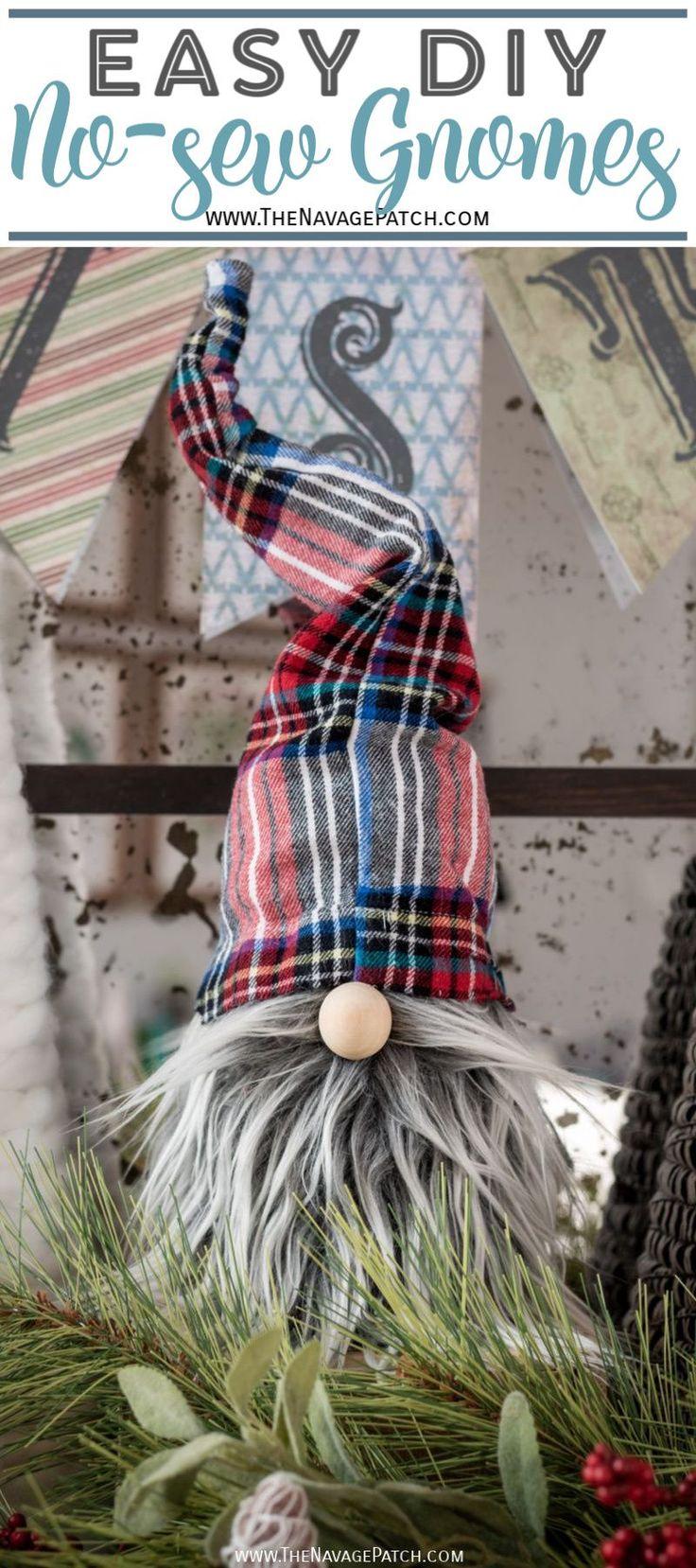Easy DIY Christmas Gnomes in 2020 Easy christmas diy