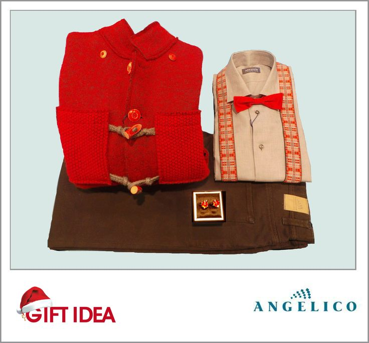 #GIFT #IDEA! #Shirt / #Camicia - #Lanificio #Angelico #Original #price: 82€           #Outlet: 49€ #Bow #tie / #papillon  Orig: 32€ Outlet: 19€ #Suspenders / #Bretelle  Orig: 65€ Outlet: 39€ #Cufflinks / #Gemelli Orig: 75€ Outllet: 45€ #Wool #coat / #Montgomery di #lana Orig: 415€ Outlet. 249€ #Trousers / #Pantaloni Orig 142€ Outlet 85€ #Available at Lanificio Angelico - #store number 82. http://www.palmanovaoutlet.it/it/outlet/negozi/lanificio-angelico