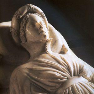 Lucca (Toscana - Italia) - Duomo - Monumento funebre di Ilaria del Carretto di Jacopo della Quercia, dettaglio - 1406-1408