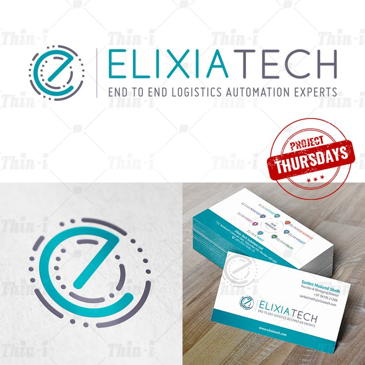 Creating a personality for a multi-faceted #brand is a challenge. But we love challenges and expertise in overcoming them! We created this holistic logistic #logoIdentity for ElixiaTech & also made their #stationery .