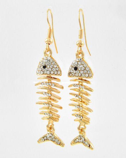 Fish bone earrings earrings pinterest for Fish bone earrings
