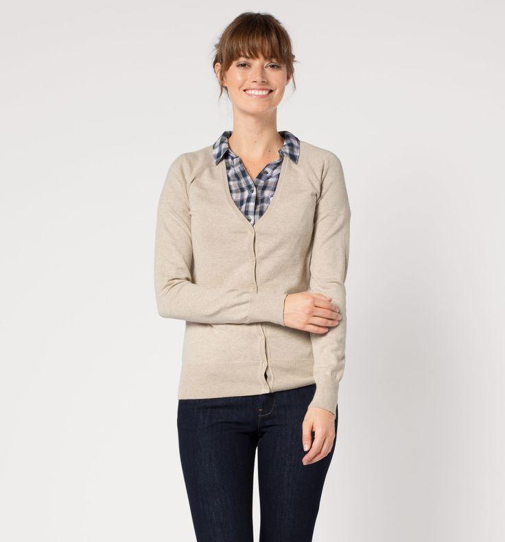 Sklep internetowy C&A | Sweter rozpinany, kolor:  beżowy | Dobra jakość w niskiej cenie