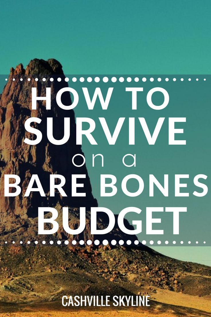 If you have been laid off, fired, or quit your job, a bare bones budget can help.